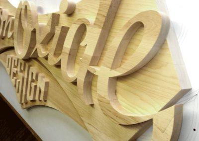 letrero de madera mdf